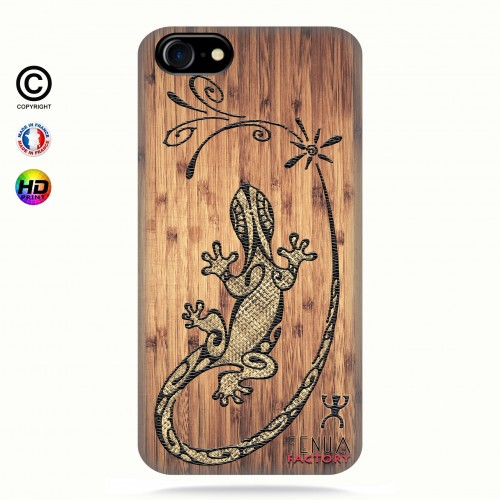 coque iphone 8 Tribal Bamboo Gecko