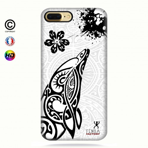 Coque iphone 8+ Dauphin B&W