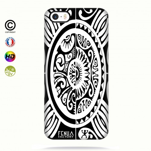 coque iphone 5-5s-5se tribal cube b&w