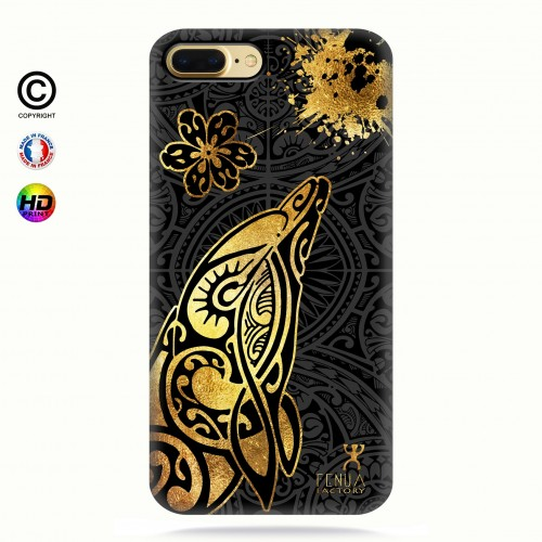 Coque iphone 8+ Dauphin Gold