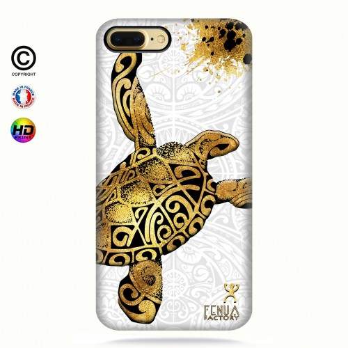 Coque iphone 8+ Tortue Gold