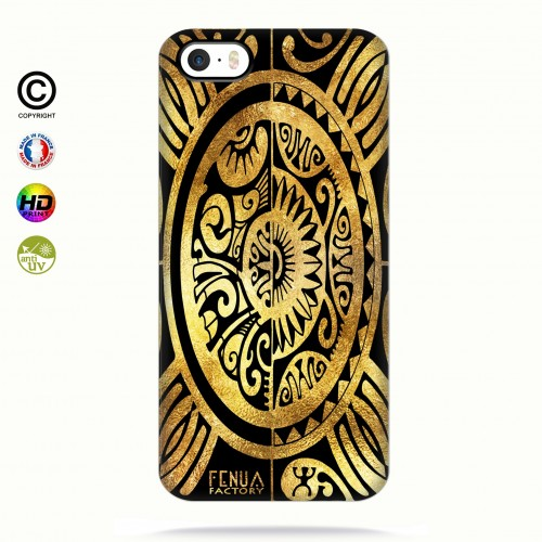 coque iphone 5-5s-5se tribal cube gold
