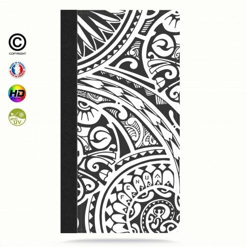 coque iphone 8 tribal frieze b&w quart