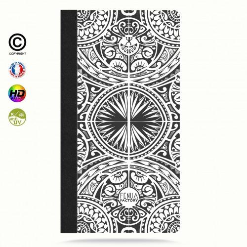 coque iphone 8 tribal frieze b&w