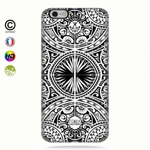 coque iphone 6+/6s+tribal frieze b&w