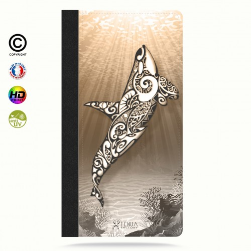 Etui Porte cartes iphone X Orca Under the Sea