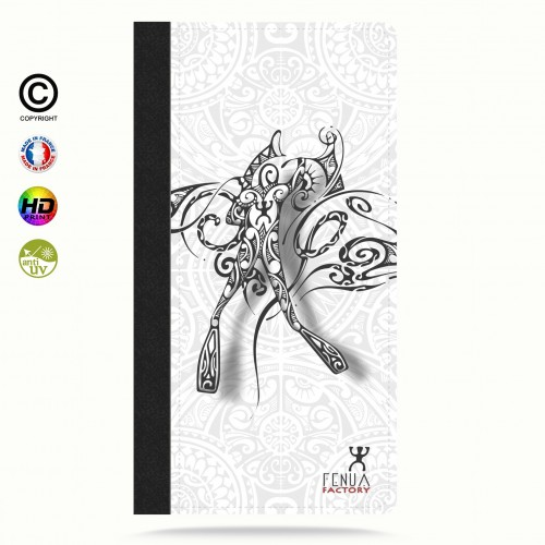 Etui Porte cartes iphone X b&w diving