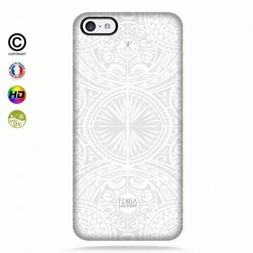 coque iphone  5c tribal frieze b&w +