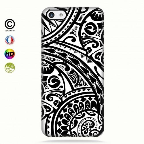coque iphone 5c tribal frieze b&w quart