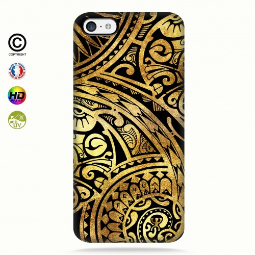 coque iphone 5c tribal frieze gold +