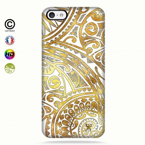 coque iphone 5c tribal frieze gold + quart