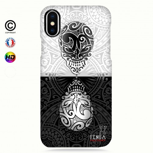 coque iphone 8+ B&W Skulls Mirror