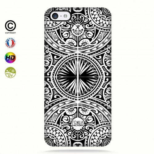coque iphone 5c tribal frieze b&w