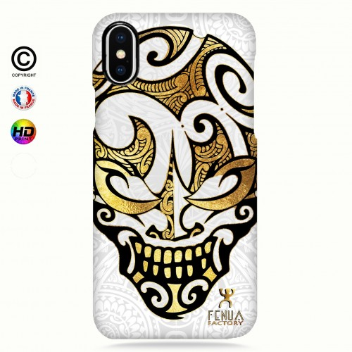 coque iphone X Big Gold Skulls
