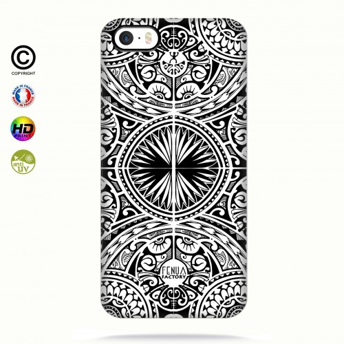 coque iphone 5-5s-5se tribal frieze b&w