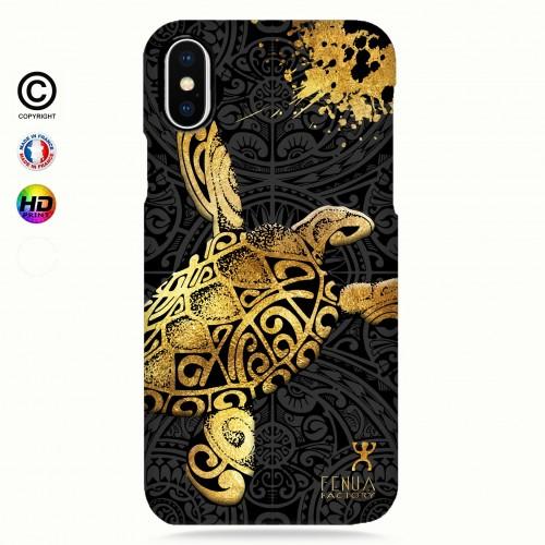 Coque iphone 8+ Tortue Gold