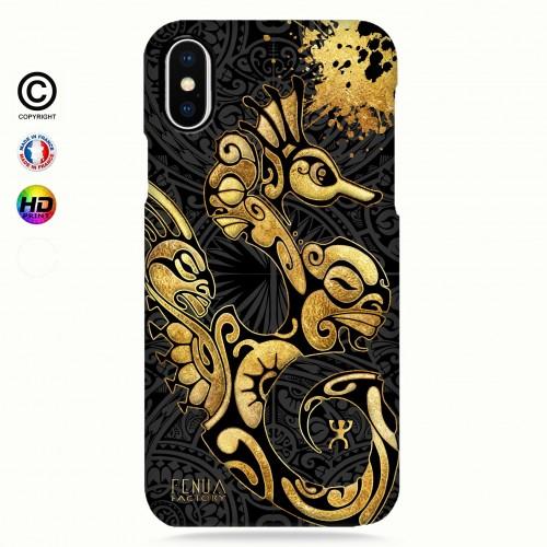 Coque iphone 8+ Hippocampe Gold