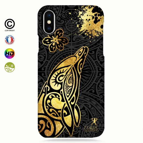 Coque iphone 8+ Dauphin Gold