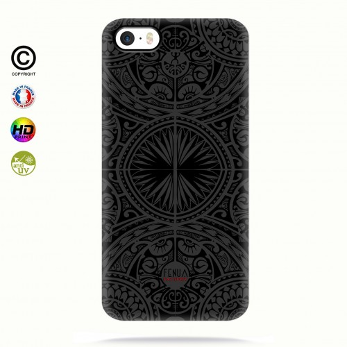 coque iphone 5-5s-5se tribal frieze b&w +
