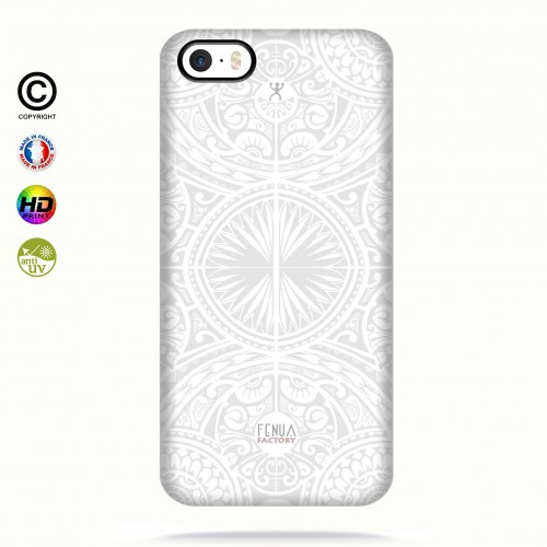 coque iphone 5-5s-5se tribal frieze b&w +