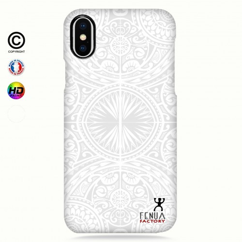 coque iphone X tribal frieze b&w +