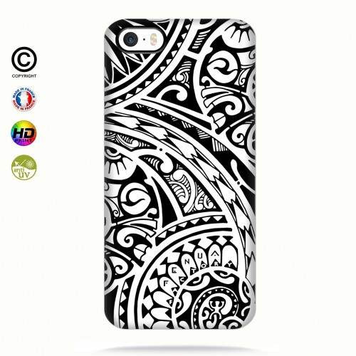 coque iphone 5-5s-5se tribal frieze b&w quart