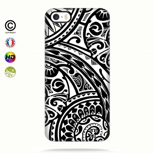 coque iphone 5-5s-5se tribal frieze b&w quart