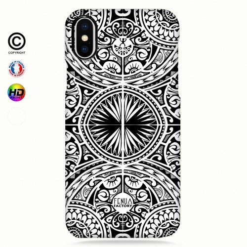 coque iphone X tribal frieze b&w