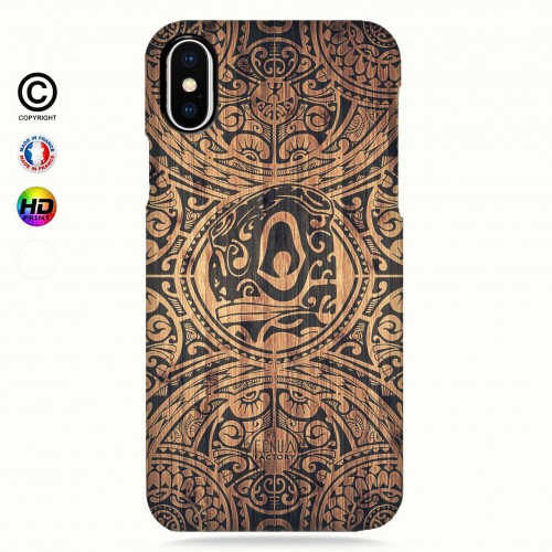 coque iphone X Tribal Tiki Bamboo