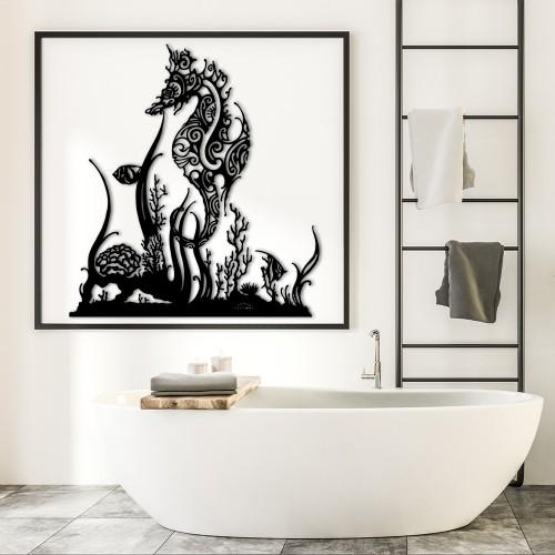 HIPPOCAMPE ET CORAUX SANS PIED T