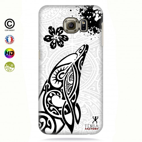 Coque galaxy s6 edge Dauphin B&W