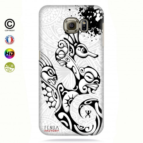 Coque galaxy s6 edge hippocampe B&W