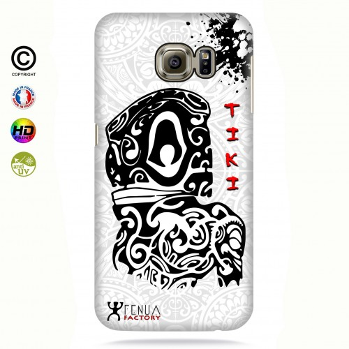 Coque galaxy s6 edge Tiki B&W
