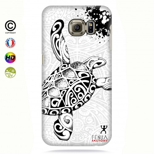 Coque galaxy s6 edge Tortue B&W