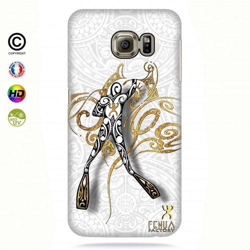 coque galaxy s6 edge gold diving