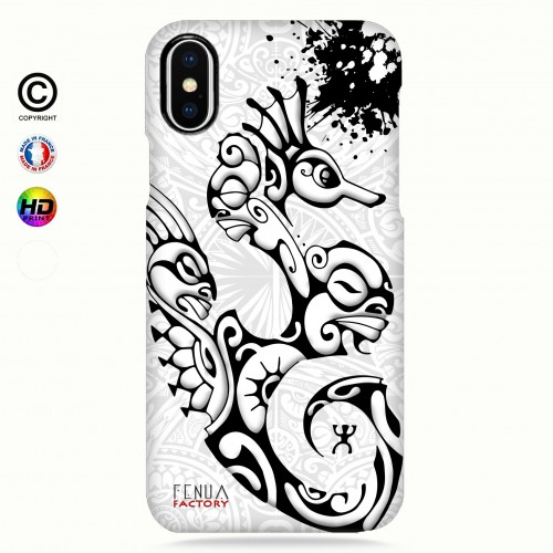 Coque iphone XS MAX hippocampe B&W