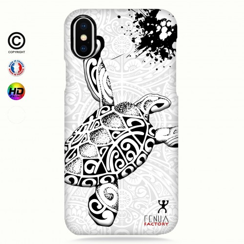 Coque iphone XS MAX Tortue B&W