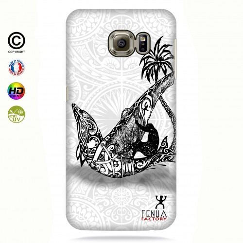 coque galaxy s6 edge B&W Dolphin Sailboard