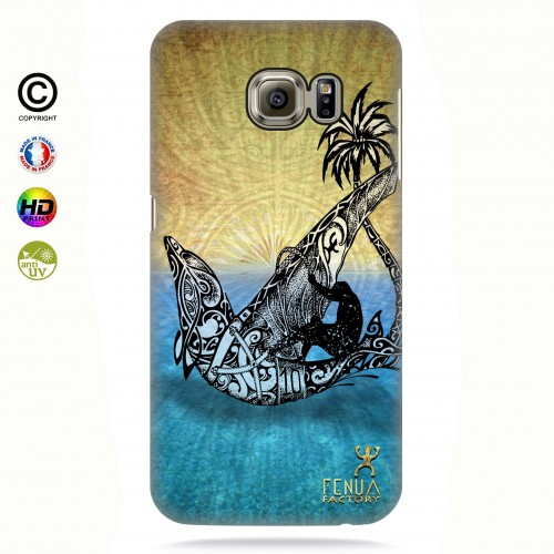 coque galaxy s6 edge Dolphin Sailboard