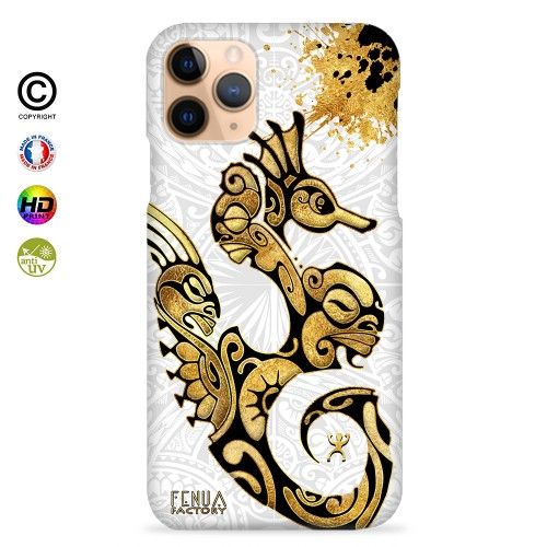 Coque iphone 8+ Hippocampe Gold