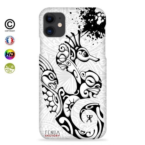 Coque iphone 8+ hippocampe B&W