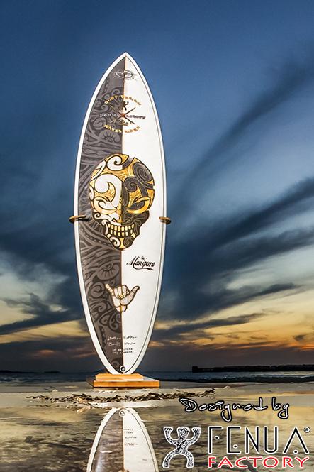Surf polynésien motif front fenua facto