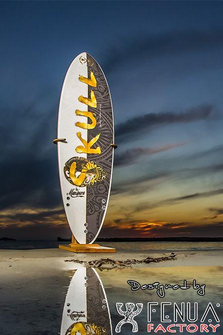 Surf polynésien motif back fenua factor