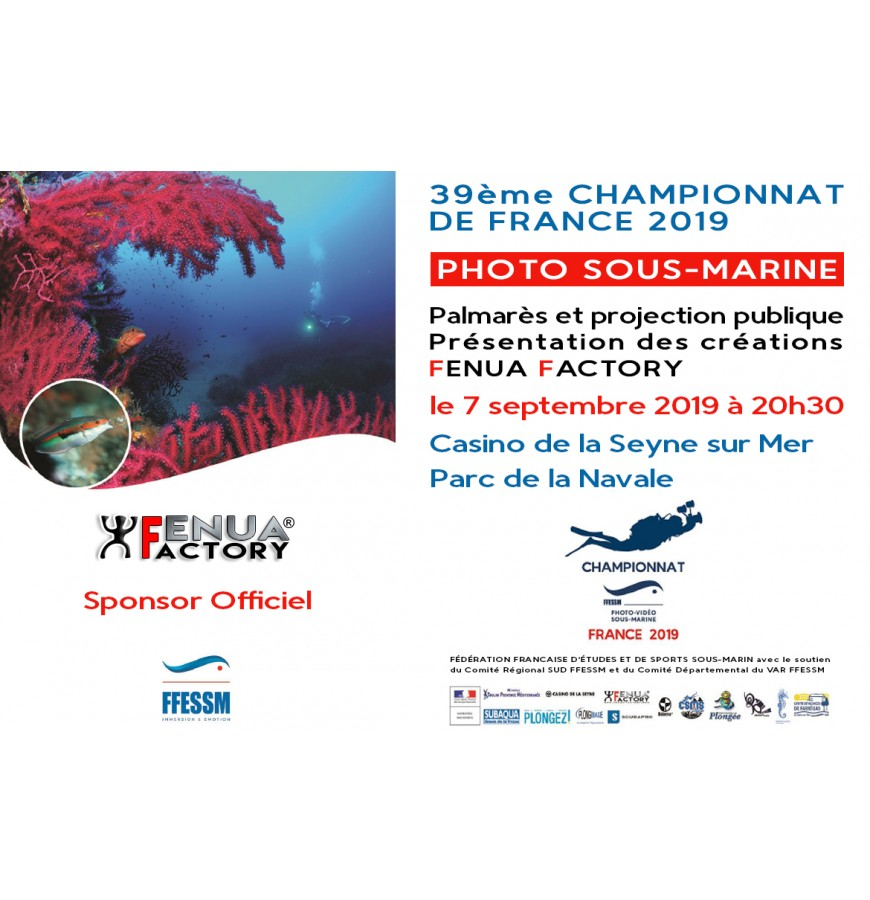 FENUA FACTORY SPONSOR OFFICIEL CHAMPIONNAT DE FRANCE DE PHOTO SOUS-MARINE 2019